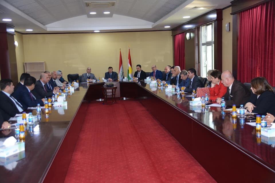مؤسسة سورايا تشارك في أجتماع خاص مع وزير العدل العراقي في أربيل