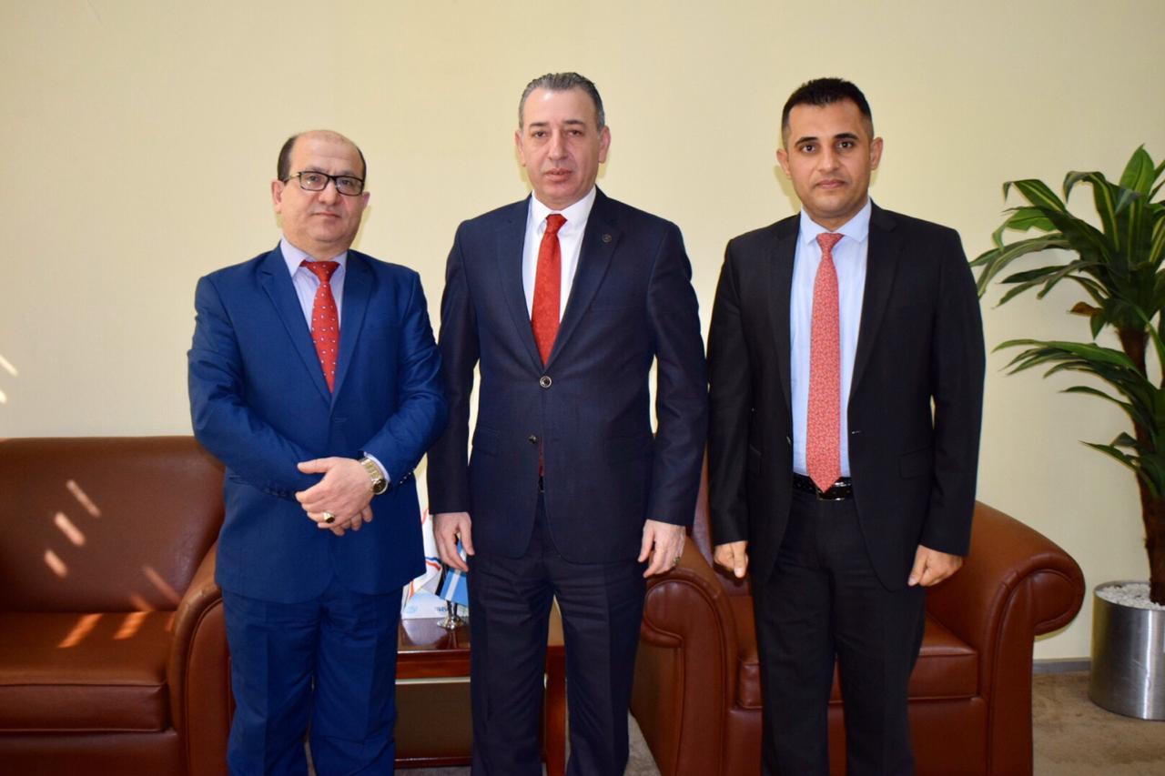 رئيس مؤسسة سورايا يزور وزير الاقليم لشؤون المكونات
