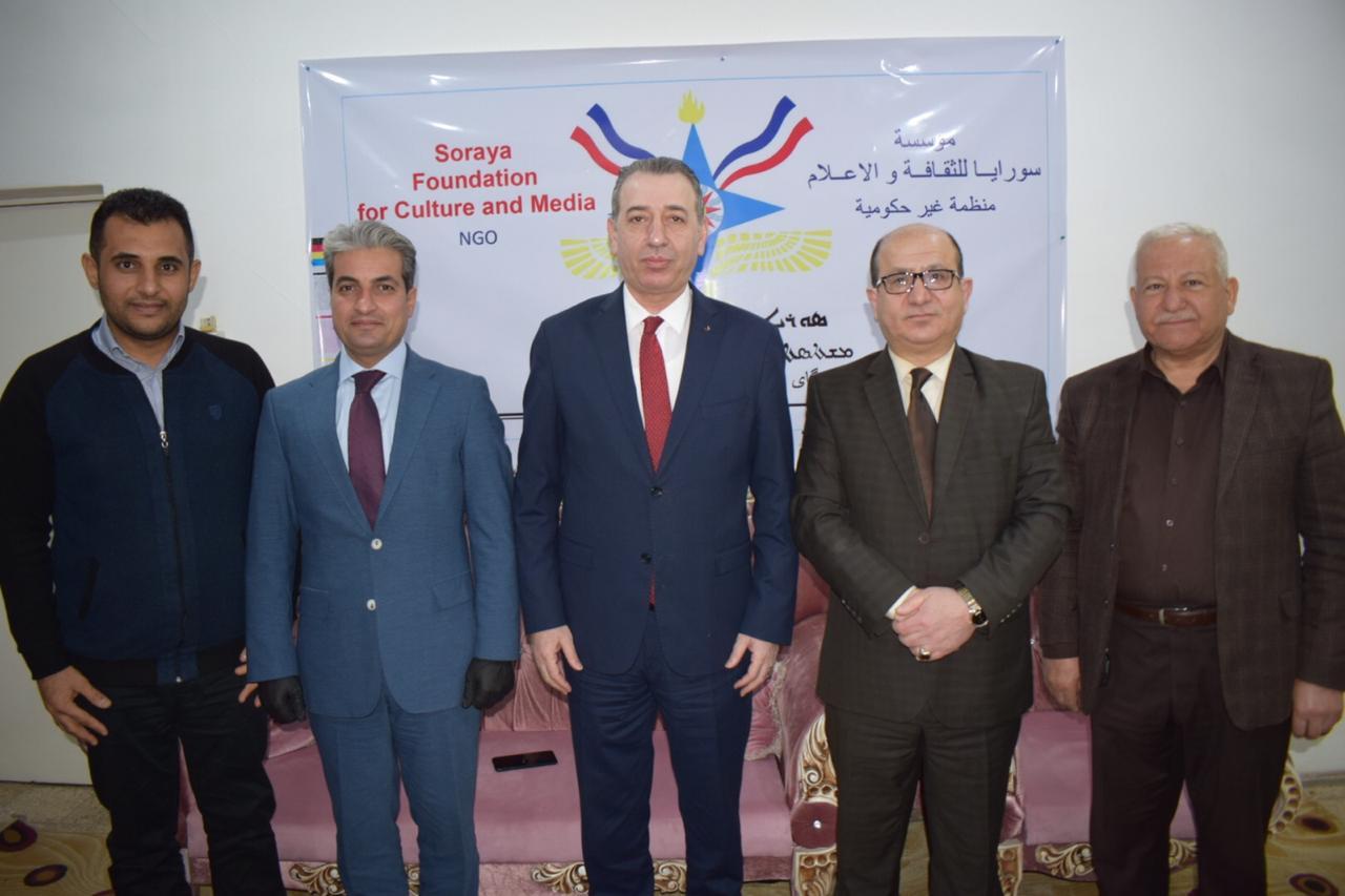 أيدن معروف يزور مؤسسة سورايا وجمعية الثقافة الكلدانية  في عنكاوا