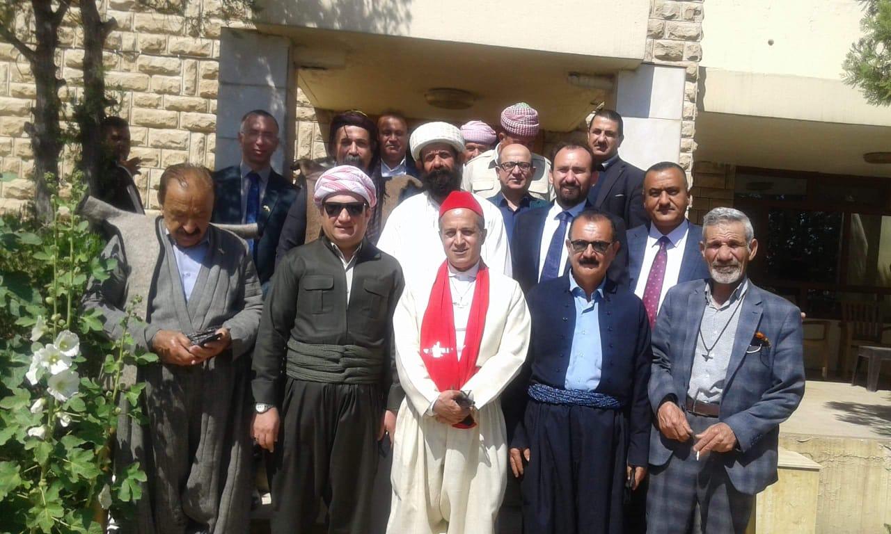 وفد مكونات كوردستان يقدم التهاني للأخوة الأيزيدية