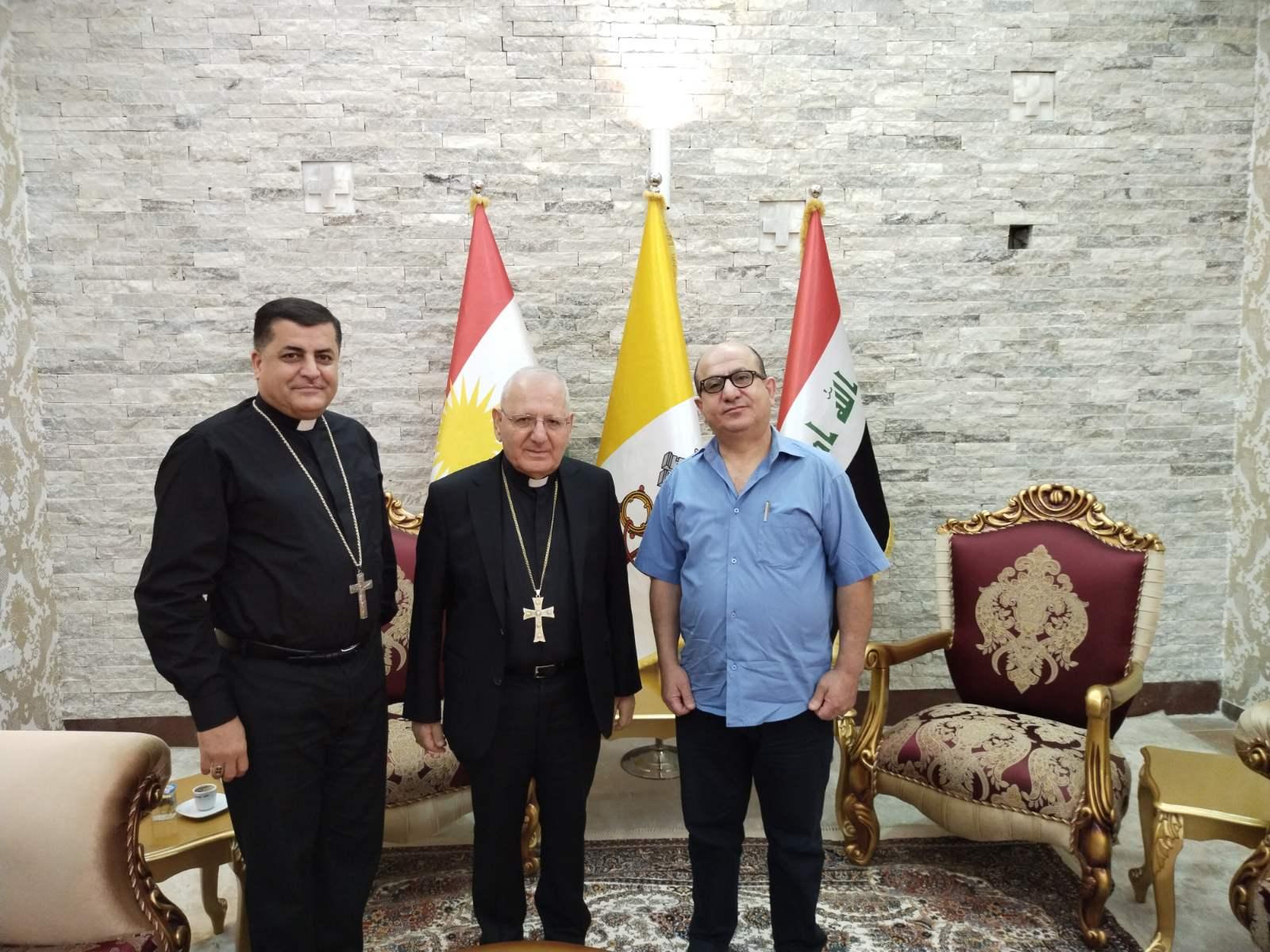 رئيس مؤسسة سورايا يزور غبطة البطريرك ساكو